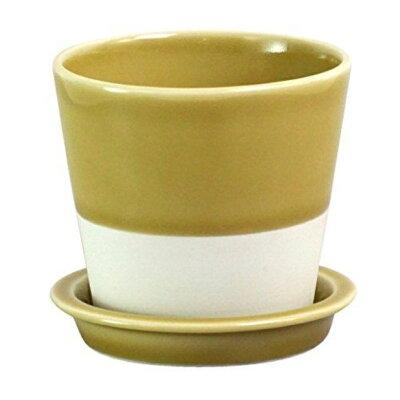 西海陶器 essence esテーブルポット 黄磁釉 13685