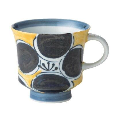 西海陶器 18003 錦花紋 マグ 黄