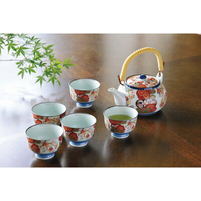 SAIKAITOKI/西海陶器 錦平安桜 土瓶茶器揃/ 31784