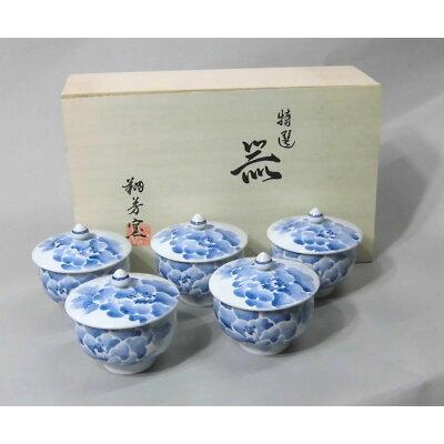 西海陶器 手描濃牡丹 蓋付汲出揃 40893