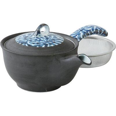 西海陶器 タコ唐草 MS平中急須 青 62422