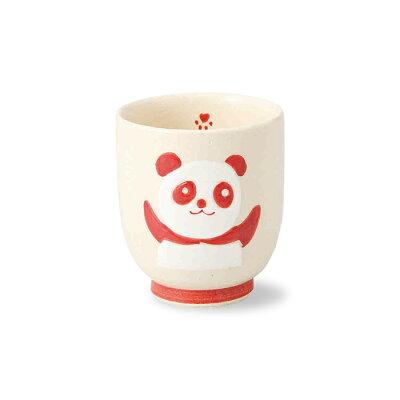 西海陶器 赤パンダ 湯呑 70443