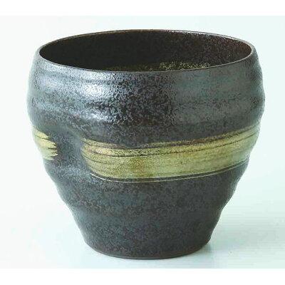 西海陶器 黒陶金刷毛 えくぼカップ 70987