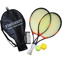 東方興産 TOHO ジュニア 硬式テニスラケットセット ブラック