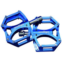 WELLGOウエルゴ アルミCNC薄型ペダル BLUE M194
