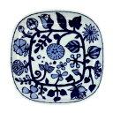 波佐見焼 フラワーパレード 角取皿/正角皿 ホワイト   hama-fpsp-wh