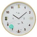 アートプリントジャパン ムーミン 壁掛け時計 ウッドパーツクロック