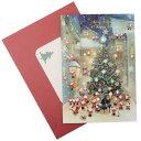ミニサンタ クリスマスカード グリーティングカード オーケストラ APJ 封筒付き Xmas雑貨 グッズ