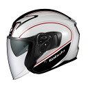 OGK KABUTO オージーケーカブト ジェットヘルメット EXCEED DELIE エクシード デリエ ホワイトブラック ヘルメット サイズ:M