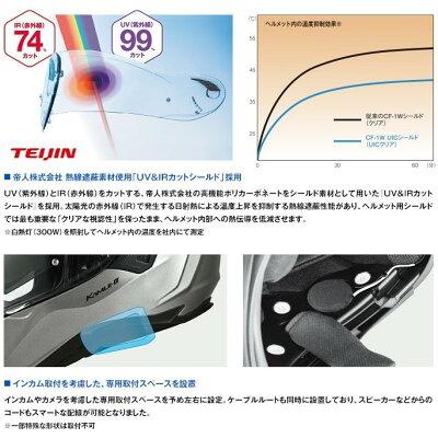 OGK KABUTO オージーケーカブト フルフェイスヘルメット KAMUI 3 カムイ・3 クールガンメタ ヘルメット サイズ:M