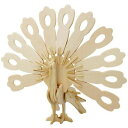 飾る木製3Dパズルキット JP228 クジャク イワヤ