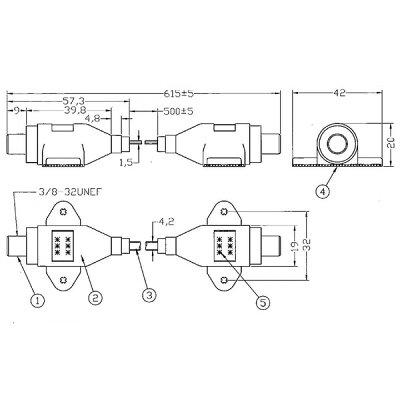 隙間ケーブル サッシケーブル   極細型 防水キャップ付属 地デジ bs cs対応 f型接栓タイプ cra-50