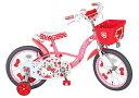 エムアンドエム M&M ハローキティチェリー16 ピンク 変速16型 子供用自転車