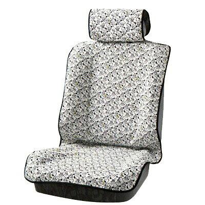 bonform スヌーピーパターン 前席用シートカバー   ホワイト フロント用 4135-50