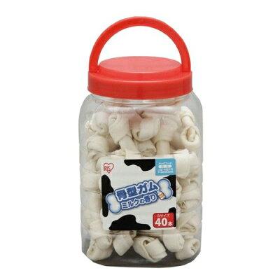 アイリスオーヤマ 骨型ガム ミルク味 ボトル入りs     p-mgb40s