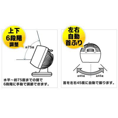 アイリスオーヤマ 小型サーキュレーター ボタン式 首振り PCF-M15 グレー(1台)
