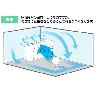 アイリスオーヤマ 小型サーキュレーター ボタン式 首振りタイマー・リモコン付き PCF-C15 ホワイト(1台)