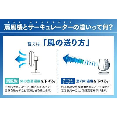 アイリスオーヤマ 小型サーキュレーター ボタン式 上下左右首振りリモコン付き PCF-C15T ホワイト(1台)