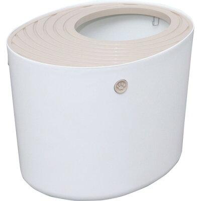 アイリスオーヤマ 上から猫トイレ PUNT-530 ホワイト(1コ入)