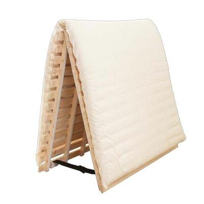 檜すのこベッド 2つ折り セミダブル すのこベッド
