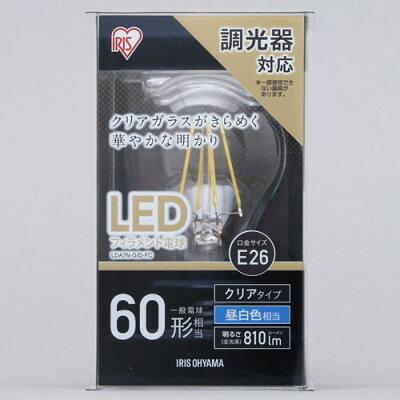 アイリスオーヤマ 調光器対応LED電球 一般電球形・全光束810lm/昼白色・口金E26 LDA7N-G-D-FC
