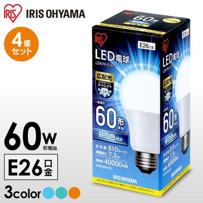 アイリスオーヤマ LED電球 E26 広配光タイプ 60W形相当 LDA7N-G-6T4