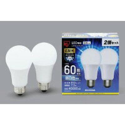 アイリスオーヤマ LED電球 E26 広配光タイプ 60W形相当 LDA7N-G-6T42P 2個