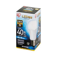 アイリスオーヤマ LED電球 E26 広配光40形 昼白色 1個