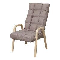 アイリスオーヤマ 1人用椅子 ウッドアームチェア ブラウン WAC-L