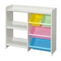 本棚付き おもちゃ収納  ラック 棚