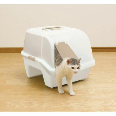 アイリスオーヤマ 散らかりにくいネコトイレ ホワイト