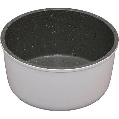 ダイヤモンドコートパン 鍋 16cm IH ISN-P16 ホワイト&マーブル KITCHEN CHEF フライパン
