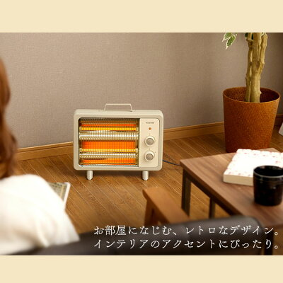 アイリスオーヤマ 電気ストーブ EHT-800D-C暖房 電気ストーブ 遠赤外線