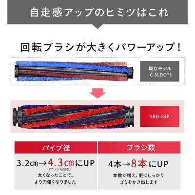 IRIS 極細スティッククリーナー SBD-E4P