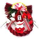 紅白梅飾り 1(モダンしめ飾り) (お正月飾り)