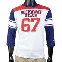 チャンピオン Tシャツ 7分袖 フットボール ロッカウェイ メンズ ネイビー / XLサイズ C3-D308