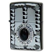 (ZIPPO)ジッポー オイルライター NATIVE METAL 3 ネイティブメタル3 ブラックニッケル エッチング メタル リューター オニキス ブラック NM3-BKON