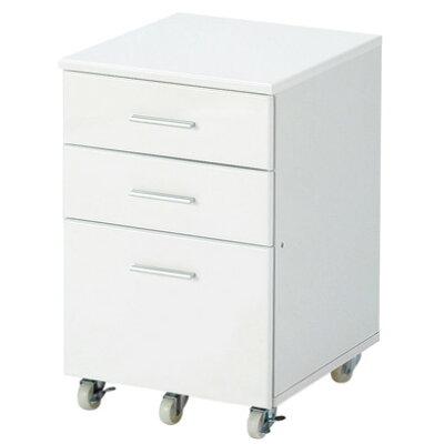 高梨産業 デスクチェスト ホワイト RS-W4350 WH ホワイト