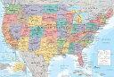 アメリカ 地図 ポスターGN-0757