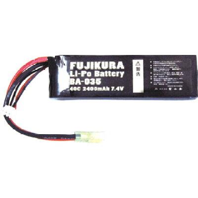 LIPO バッテリー 2400mAh 40C 7.4V ミニタイプ BA-035