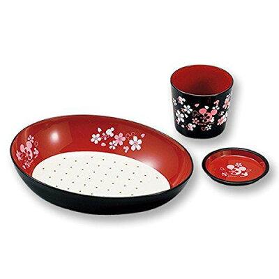 麺鉢 つゆ入れ  ミッキー SI 薬味皿付のつゆ入れが付いた1人前用 16617-5