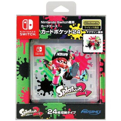 Switch Nintendo Switch専用カードポケット24 スプラトゥーン2 ゲーム