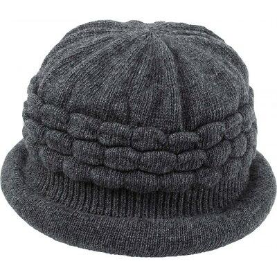 コジット  髪型ふんわり蓄熱ニット帽 ダークグレー