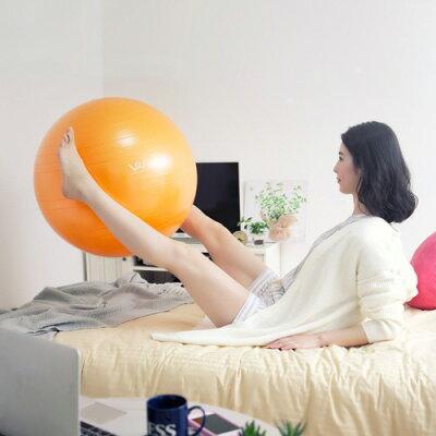 アルインコ エクササイズボール 55cm オレンジ WBN055D(1個)