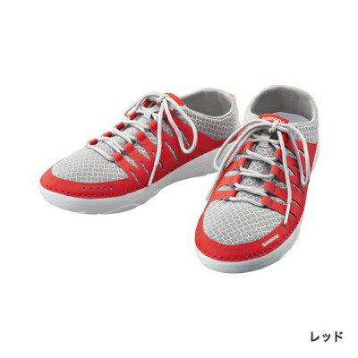 シマノ Evair ボートシューズ FS-090Rレッド 靴 デッキシューズSHIMANO Evair Boat Shoes RED