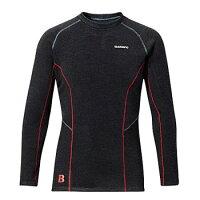 シマノ(SHIMANO) ブレスハイパー+℃ストレッチアンダーシャツ(超極厚タイプ) IN030L L ブラック