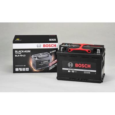 bosch 輸入車用バッテリー black-agm ブラックagm  70ah bla-70-l3