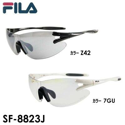 フィラ FILA サングラス SF-8823J-7GU F:シャイニーホワイト L:クリア/ブルーリーボ