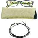 シニアグラスメンズ Reading GLasses 3PR-0025 Matte BLack*Matte Green Demi +2.50(1セット)