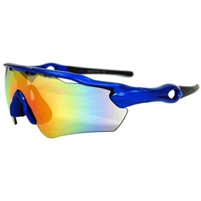 ARC STYLEアーク スタイル スポーツサングラス 一眼レンズ ARC-6179-18 メタリックブ